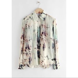 & Other Stories Watercolor Button Up Shirt